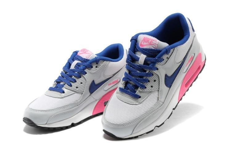 basket sneakers nike air max 90 bleu rose