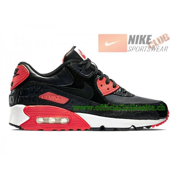 4b96fadbb1d49e Nike Air Max 90 Anniversary Chaussures Nike Pas Cher Pour Homme Noir Rouge  725235-